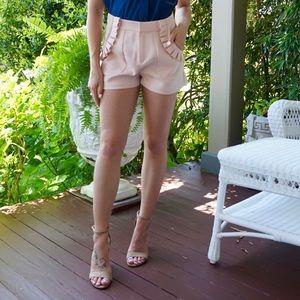 Blush Shorts with Ruffle Detail